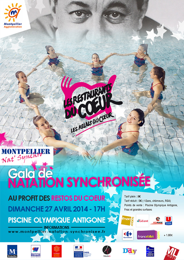 Gala montpellier natation synchronis e madein for Piscine olympique montpellier