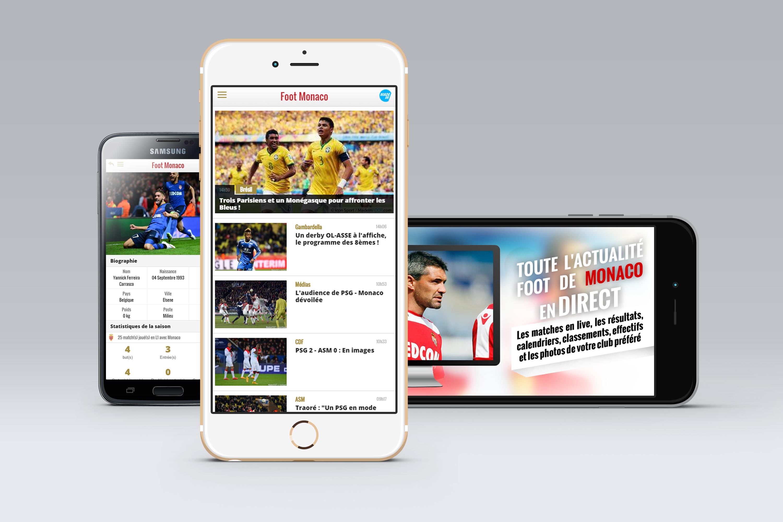 Application mobile Foot Monaco